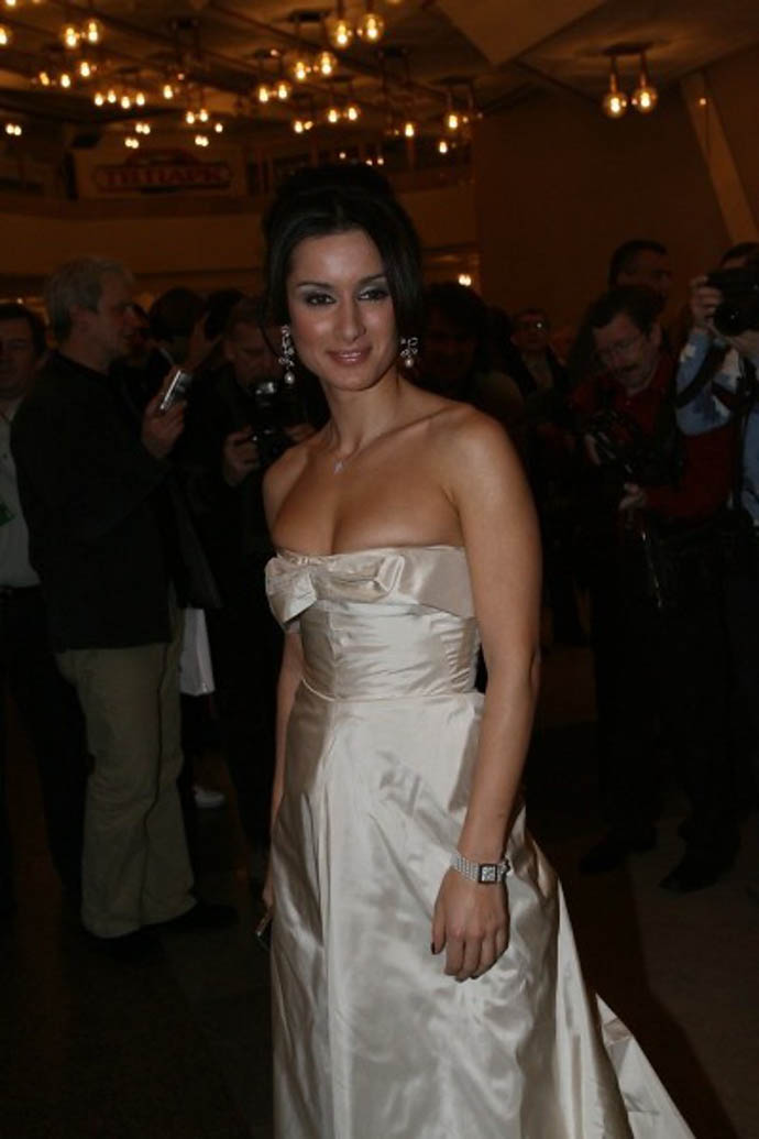Тина Канделаки в вечернем платье