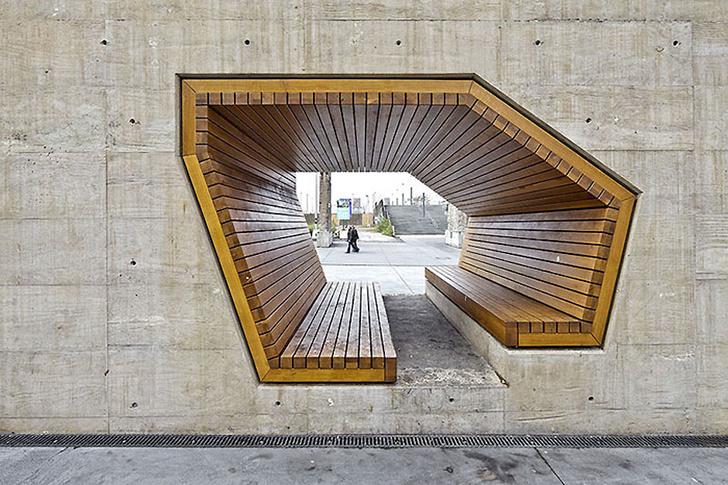 самые стильные городские скамейки