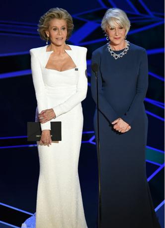 Две легенды: Джейн Фонда и Хелен Миррен на сцене премии «Оскар-2018» (фото 4)