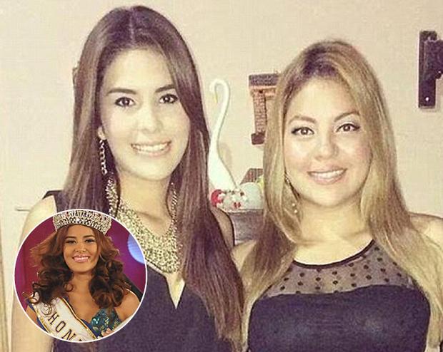 «Мисс Гондурас 2014» Хосе Мария Альварадо и ее сестра София Тринидад