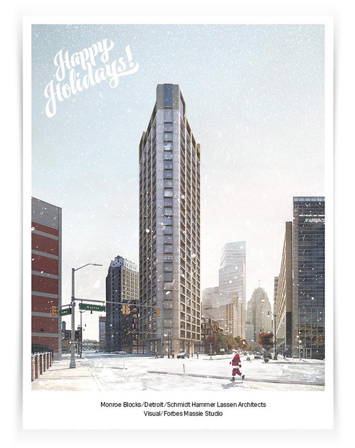 Рождественские открытки от дизайнеров и архитекторов (фото 7)