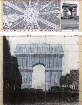 Христо «упакует» Триумфальную арку в Париже (фото 7.2)