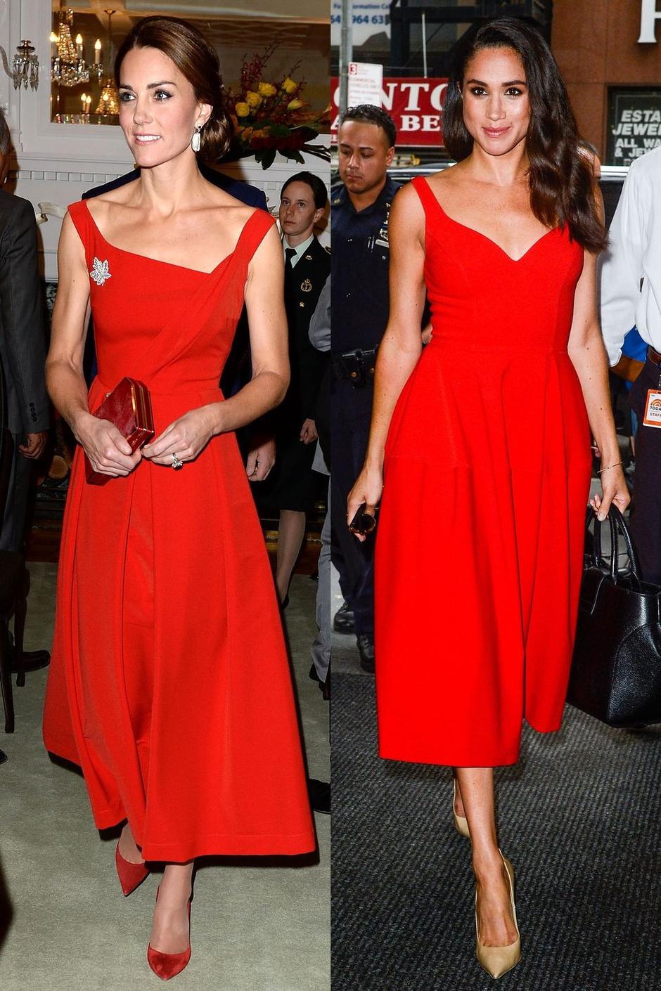 9 одинаковых образов Кейт Миддлтон и Меган Маркл: почувствуйте разницу фото [6]