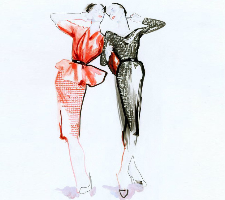 Знаменитая юбка-карандаш Dior