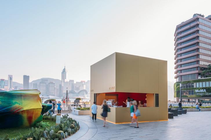 Павильон-куб от OMA перед торговым центром в Гонконге (фото 1)