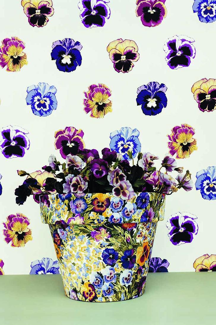 Хлопковая ткань обои с цветочным рисунком ткани с цветочным рисунком
