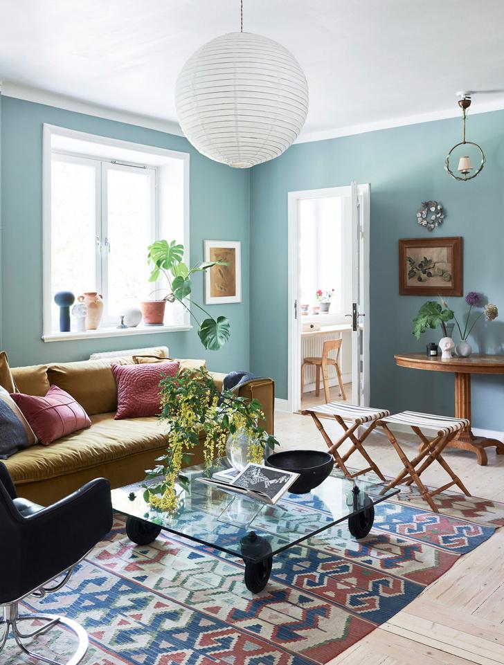 Скандинавский голубой: дом стилиста Софии Вуд (фото 11)