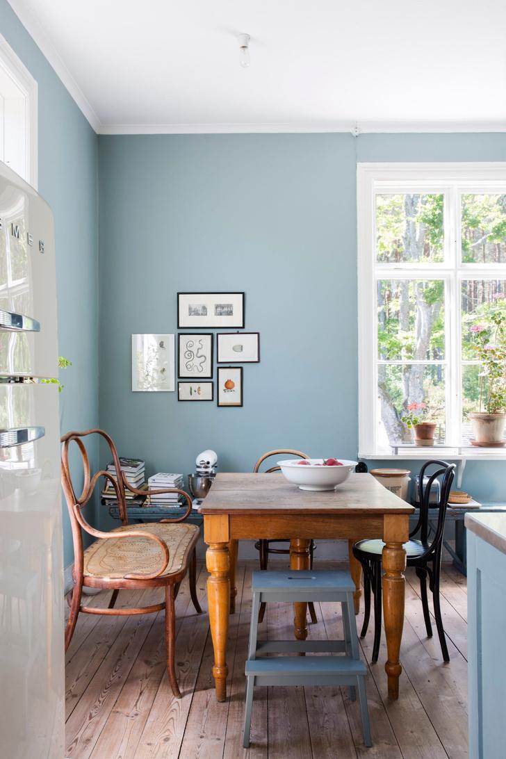 Голубая мечта: дом шведской художницы Гуннель Салин (фото 15)