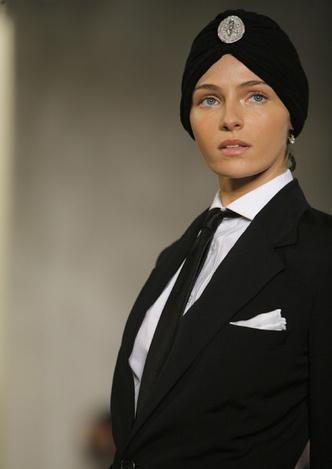 Валентина Зеляева на показах Ralph Lauren Collection