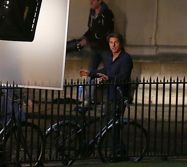 Том Круз на съемках новой «Мумии»