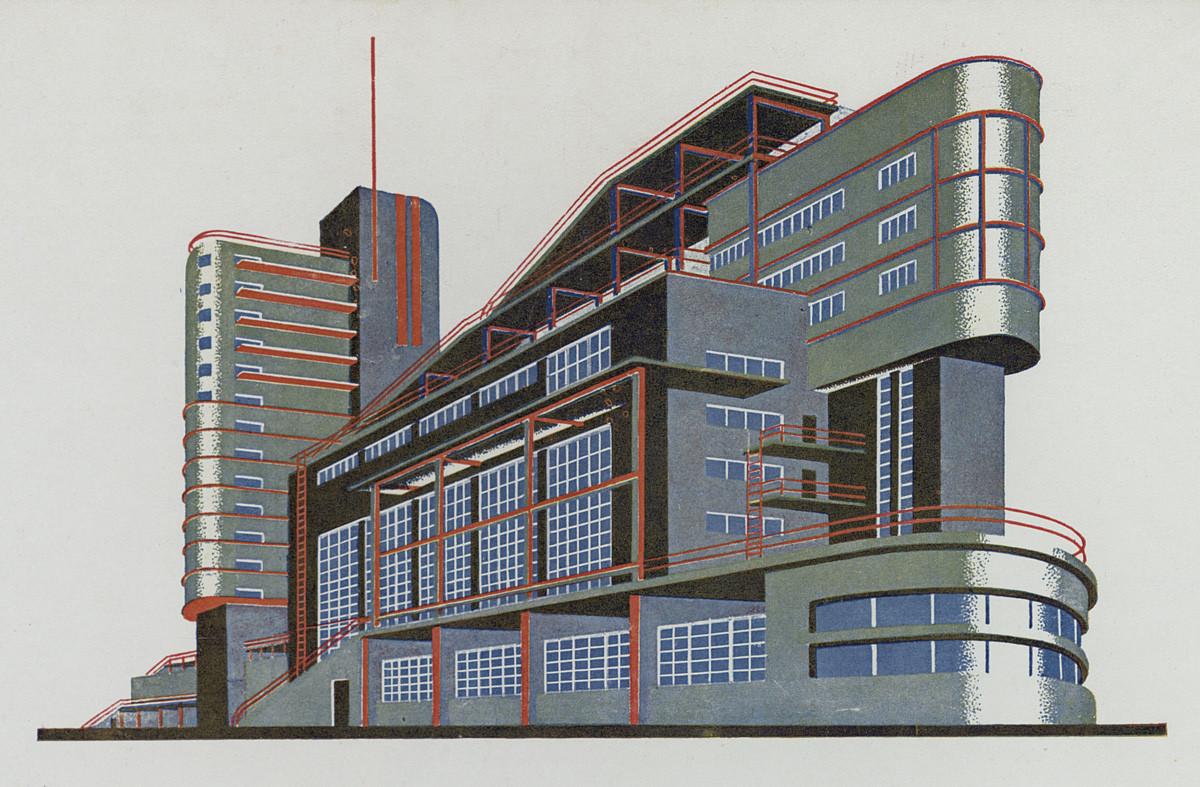 В Музее архитектуры открывается выставка «Яков Чернихов. Образы архитектуры» | галерея [1] фото [6]