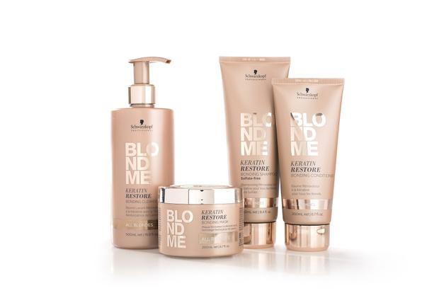 Бондинг-уход BLONDME Schwarzkopf Professional для всех типов блонд: Кондиционер для ковошинга, маска, бессульфатный шампунь, крем-кондиционер