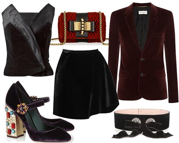 Выбор ELLE: блейзер Saint Laurent, юбка Erdem, туфли Dolce&Gabbana, топ Gucci, сумочка Christian Louboutin, пояс Alexander McQueen