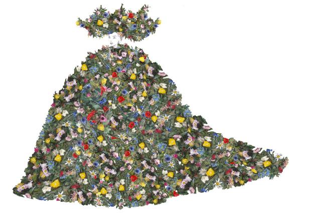 История одного платья: майская королева и 10 тысяч цветов из венгерского льна (фото 3)