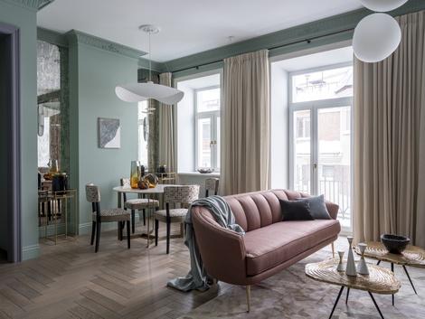 Дом с историей: квартира 107 м² на Сретенке (фото 0)