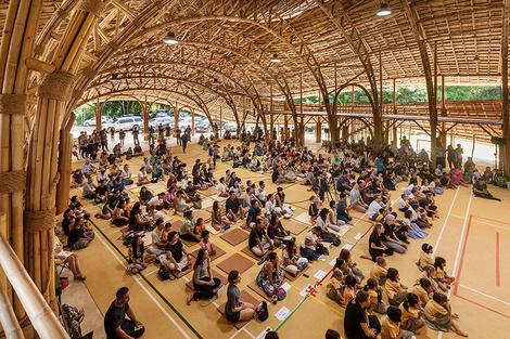 В Таиланде построили спортзал из бамбука | галерея [1] фото [6]