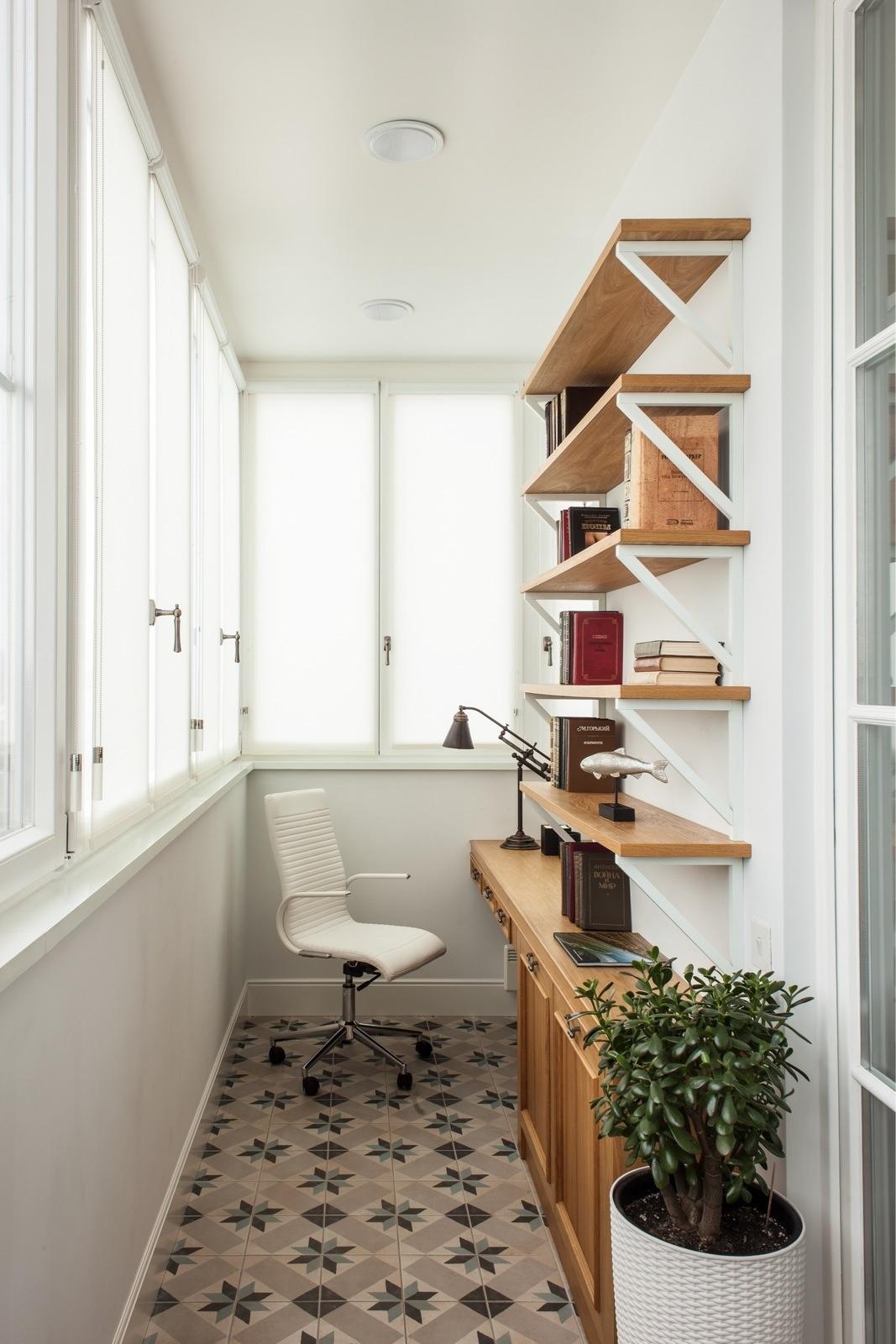 Рабочее место на балконе: 10+ идей и решений (галерея 0, фото 5)
