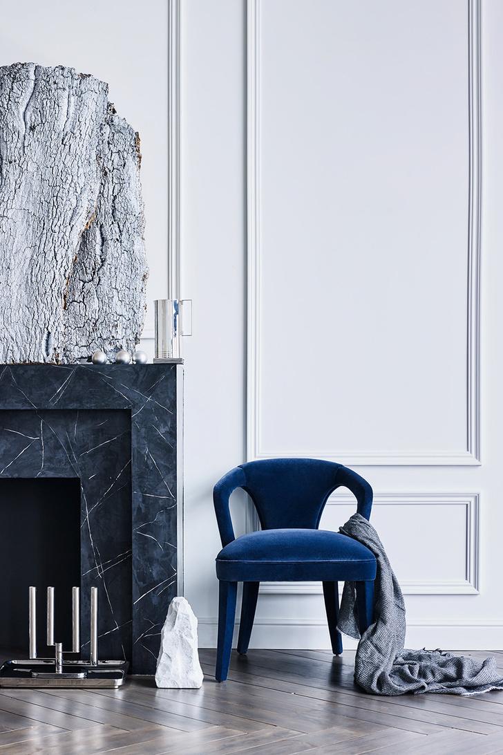 Тренд с обложки: синий цвет, хрусталь и серебро фото [2]