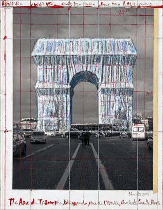 Христо «упакует» Триумфальную арку в Париже (фото 7.1)