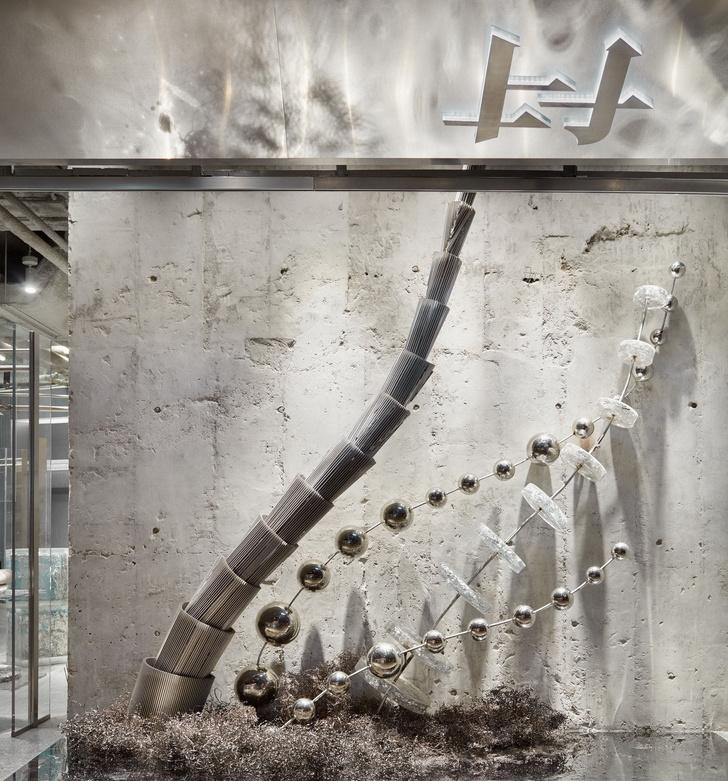 Футуристичный бутик в Гонконге из неперерабатываемых материалов (фото 4)