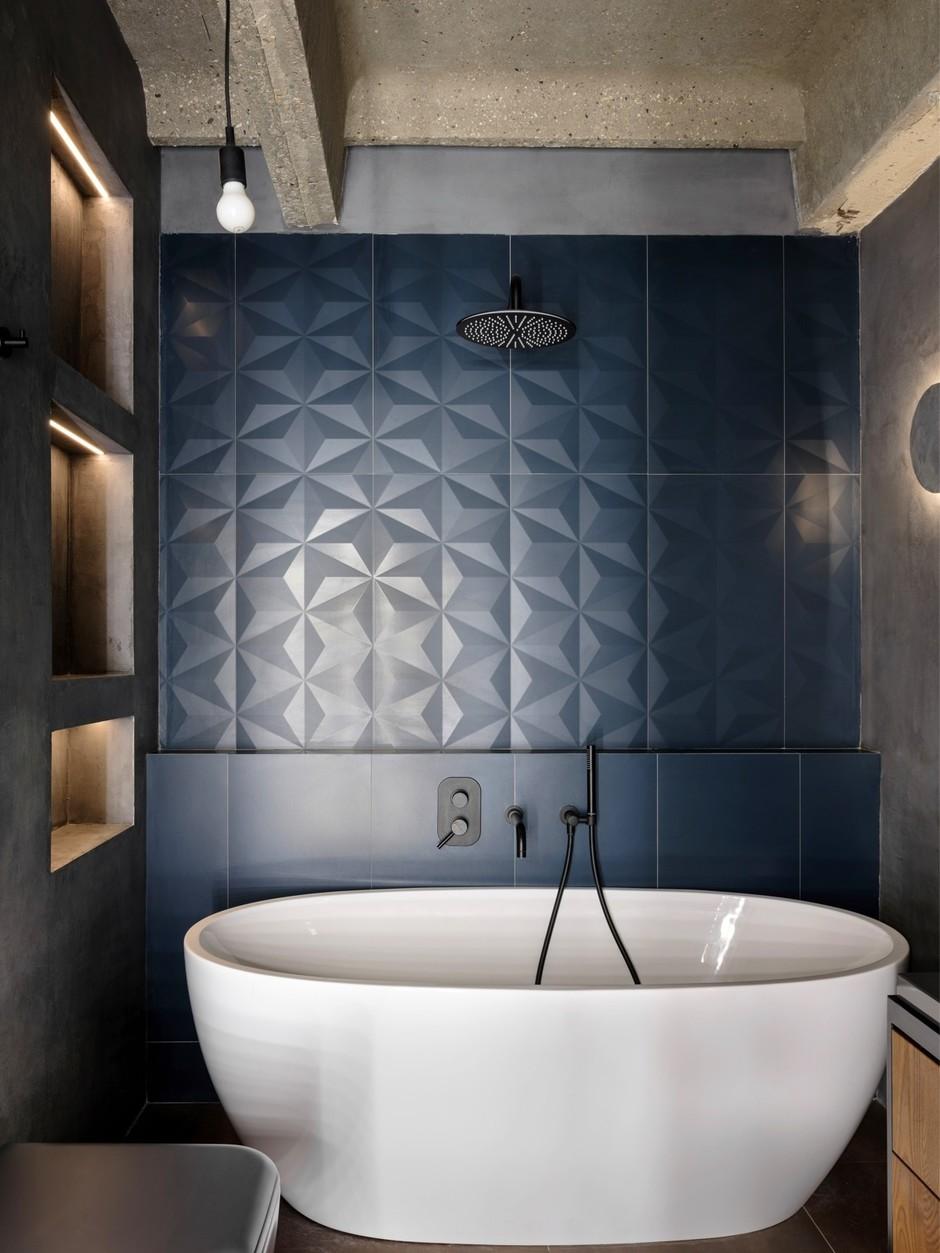 Синяя ванная комната: 15 идей (галерея 1, фото 2)