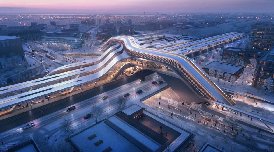Zaha Hadid Architects построит в Таллинне мост-вокзал (фото 2)