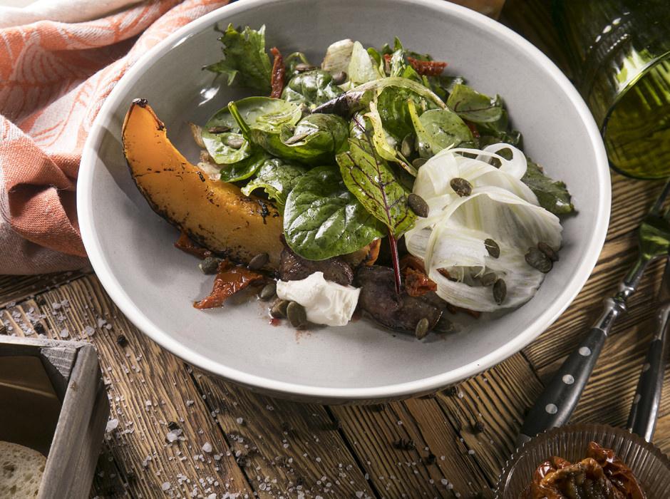 ТЫКВА: Салат с тыквой и печенью