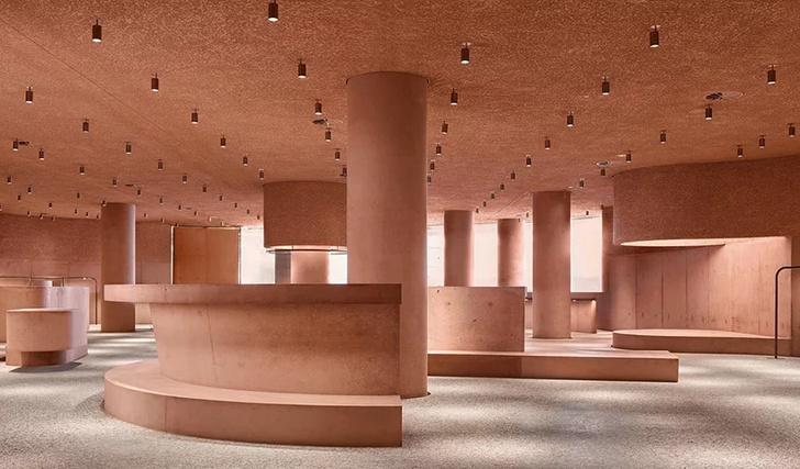 Розовая пристройка к Beverly Center по проекту Дэвида Аджайе (фото 5)