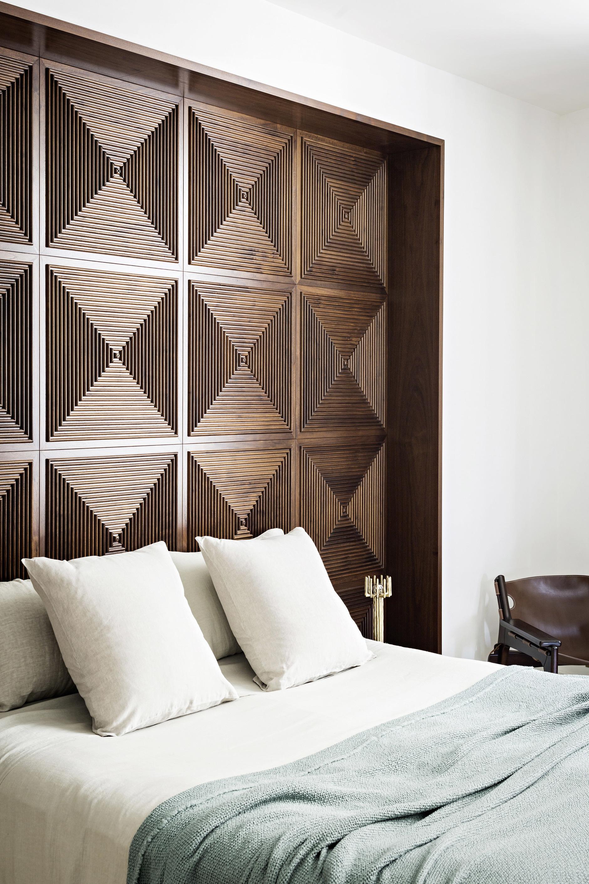 Деревянные панели в спальне: 15 примеров (галерея 1, фото 0)