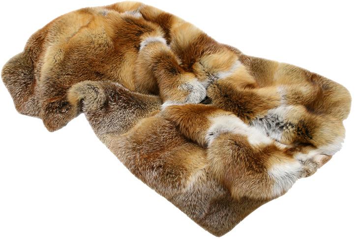 Плед из меха лисы