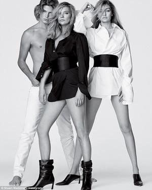 Джиджи Хадид и Кейт Мосс в рекламной кампании Stuart Weitzman (фото 4)