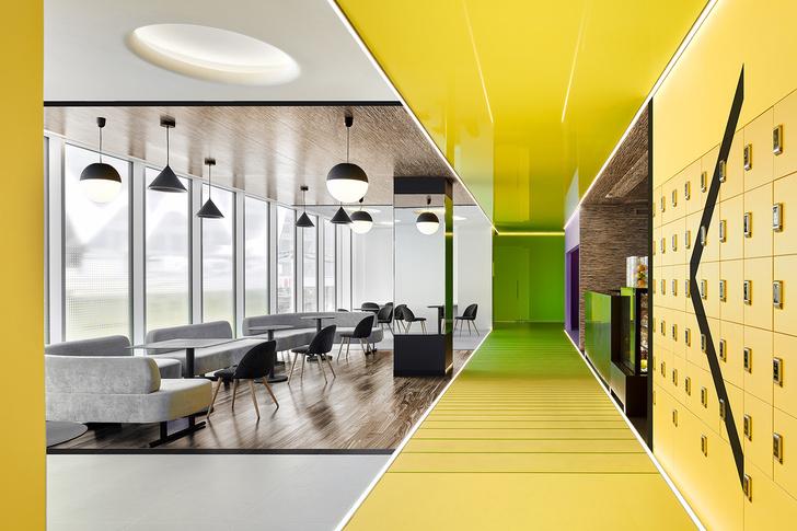 Разноцветный спортклуб в Екатеринбурге по проекту VOX Architects (фото 0)