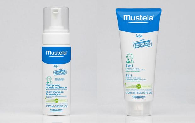 1. Mustela Foam Shampoo For Newborns; 2. Mustela 2 in 1 Hair and Body Wash