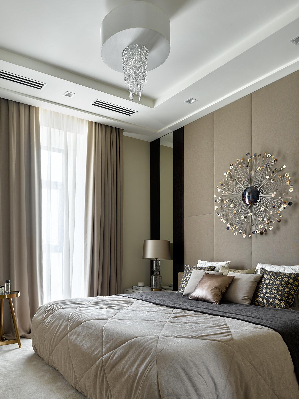 Текстильные панели в спальне: 10 примеров (галерея 0, фото 5)