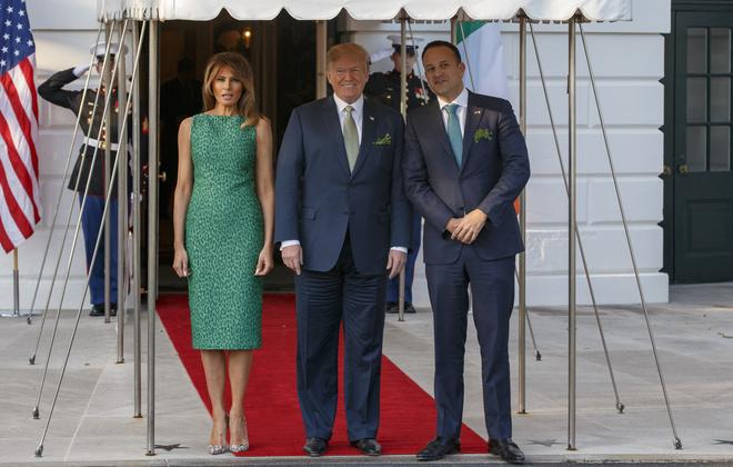 Мелания Трамп на приеме в честь Дня святого Патрика (фото 1)