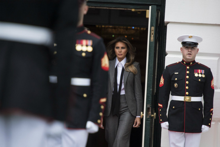 Образ дня: Мелания Трамп в Ralph Lauren фото [7]
