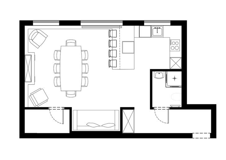 Студия 45 м² на Фрунзенской для су шефа (фото 3)