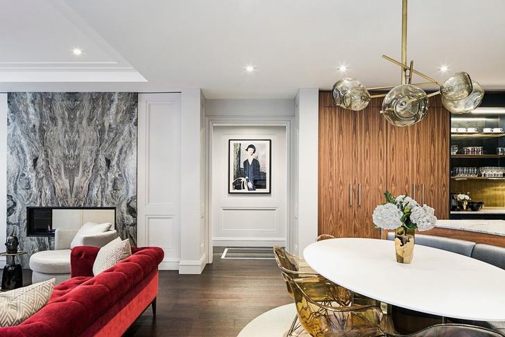Латунь и мрамор: апартаменты в Торонто (фото 4)