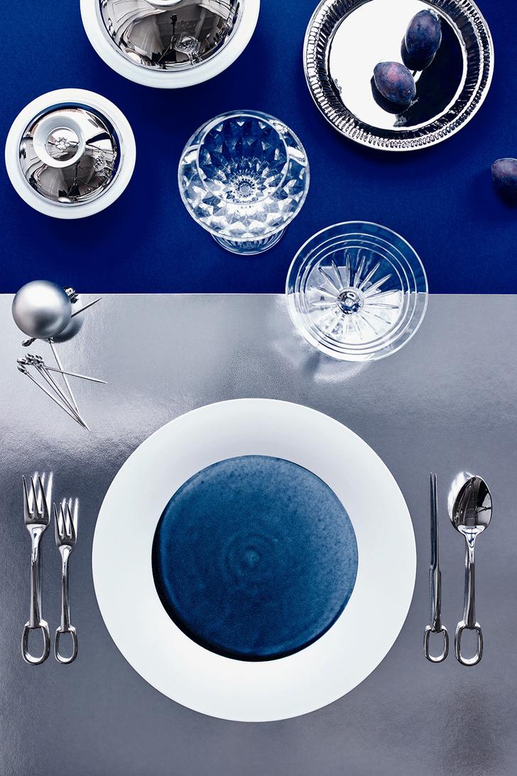 Тренд с обложки: синий цвет, хрусталь и серебро фото [3]