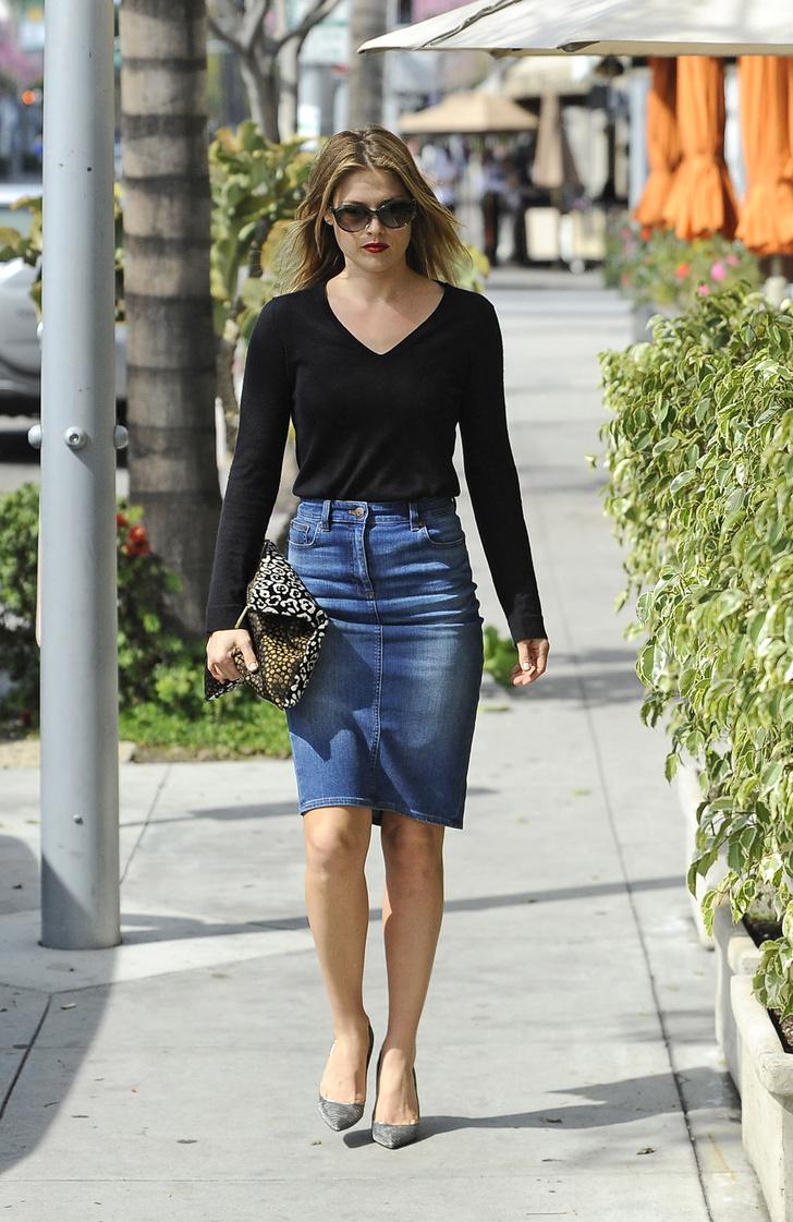 С чем носить джинсовую юбку 3