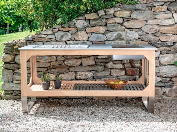Летняя кухня в саду (фото 10)