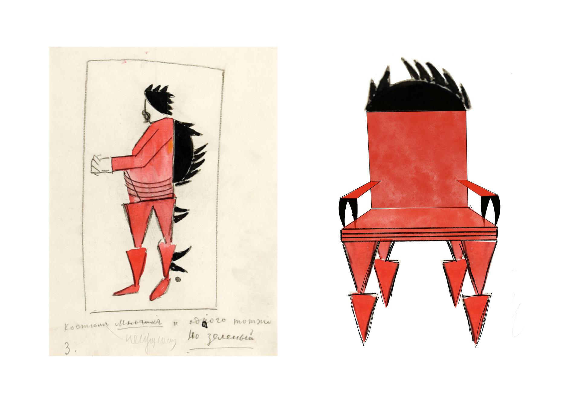 Стулья Анны Титовой по эскизам Казимира Малевича (галерея 6, фото 4)