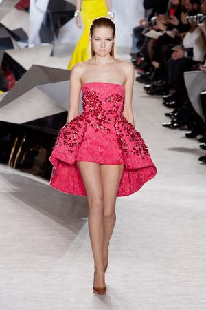 Показ Giambattista Valli коллекции сезона Весна-лето 2014 года Haute couture - www.elle.ru - Подиум - фото 574298