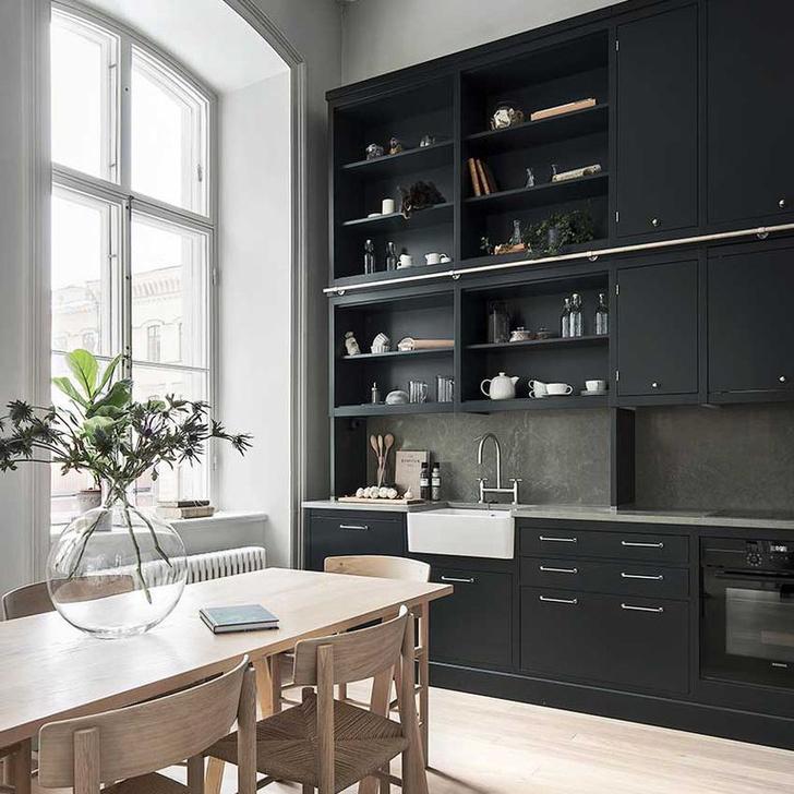Черный цвет на кухне: 8 приемов (фото 16)
