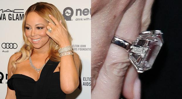 Помолвочное кольцо Мэрайи Кери с бриллиантом в 35 карат, примерная стоимость 7,5 миллионов долларов