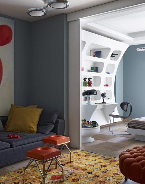 Игровая комната и спальня с рабочим столом – московский проект итальянского бюро Sawaya&Moroni.