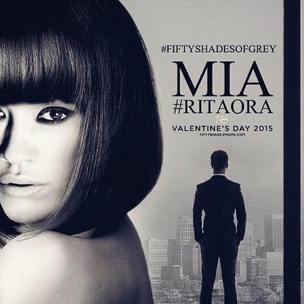 Рита Ора поделилась новым постером фильма «50 оттенков серого»