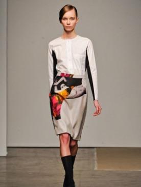 Модель на показе Rachel Comey осень-зима 2012-2013 в Нью-Йорке