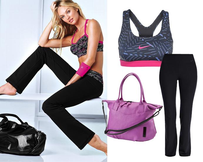 Топ Nike, брюки Nike, сумка PUMA