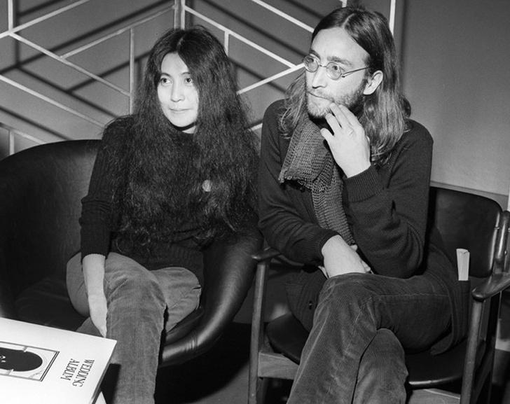 Йоко Оно и Джон Леннон